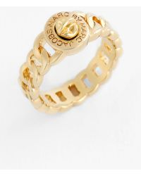 Marc By Marc Jacobs 'Turnlock - Katie' Small Ring gold - Lyst
