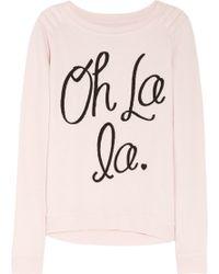 Zoe Karssen Oh La La Cottonblend Jersey Sweatshirt - Lyst