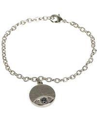 House Of Harlow 1960 Evil Eye Disc Charm Bracelet silver - Lyst