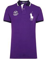 Polo Ralph Lauren Wimbledon Logo Polo Shirt - Lyst