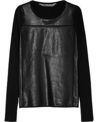 Reed Krakoff - Cashmere Blend And Leather Jumper - Lyst