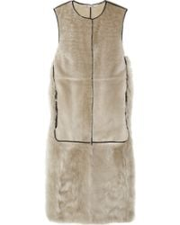 Reed Krakoff - Leather and Shearling Vest - Lyst