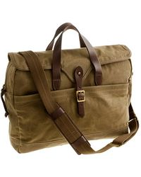 J.Crew Abingdon Laptop Bag khaki - Lyst