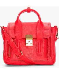 3.1 Phillip Lim Mini Red Pashli Satchel - Lyst