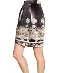 Mary Katrantzou Printed Heavy Silk Satin Skirt - Lyst