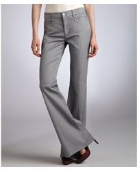 Made In Heaven - Grey Stretch Denim Marrakesh Midrise Flare Leg Jeans - Lyst