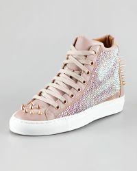 Ruthie Davis - Cosign Sparkle Hightop Sneaker - Lyst