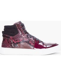 Saint Laurent Raspberry Python Malibu Sneakers - Lyst