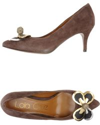 Lola Cruz Closedtoe Slipons - Lyst