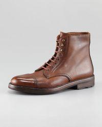 Ralph Lauren Macomb Captoe Laceup Boot brown - Lyst