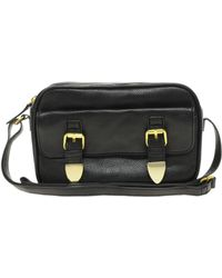 Asos Metal Keeper Satchel Across Body Bag - Lyst