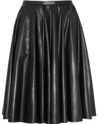 McQ by Alexander McQueen Leather Circle Skirt - Lyst