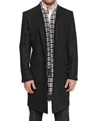 Aquascutum Wool Cloth Blend Coat black - Lyst