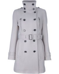 Burberry Brit Funnel Neck Trench Coat - Lyst