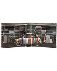 Paul Smith Printed Mini Leather Wallet - Lyst