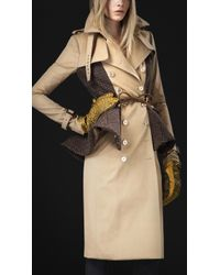 Burberry Prorsum Wool Peplum Trench Coat - Lyst