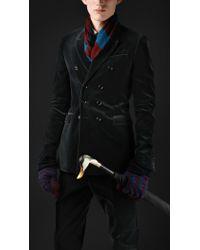 Burberry Prorsum Skinny Fit Velvet Jacket - Lyst