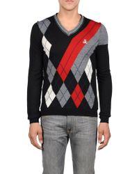 Diesel V-Neck Sweater - Lyst