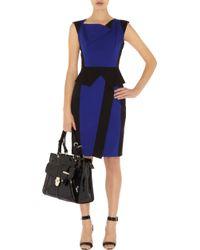 Karen Millen Colourblock Sculptural Dress - Lyst
