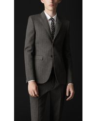 Burberry Prorsum Skinny Fit Herringbone Wool Jacket - Lyst