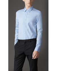 Burberry Tailored Fit Cotton Shirt - Lyst