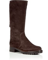 Sergio Rossi Chocolate Suede Boots - Lyst