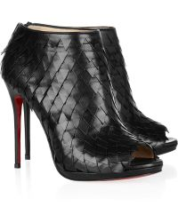 Christian Louboutin Diplonana 120 Scale-Effect Leather Ankle Boots - Lyst