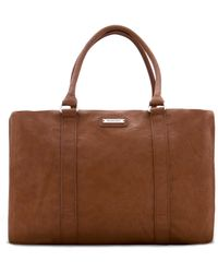 Mango Contrast Handle Shopper Bag - Lyst