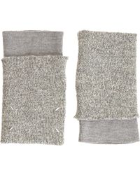 Maison Martin Margiela Double Layer Fingerless Gloves - Lyst