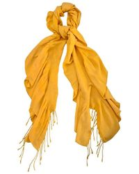 Alexon | Dark Yellow Ruched Pashmina | Lyst