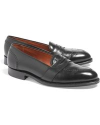 Brooks Brothers Cordovan Low Vamp Loafers black - Lyst