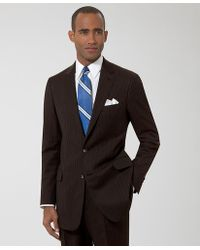 Brooks Brothers Milano Herringbone Stripe Suit - Lyst