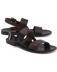 Brooks Brothers - Leather Strap Sandal - Lyst