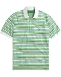 Brooks Brothers St Andrews Links Alternating Double Stripe Polo - Lyst