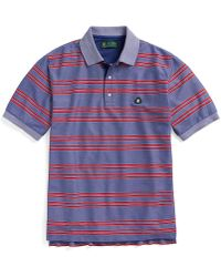 Brooks Brothers St Andrews Links Double Bold Stripe Polo - Lyst