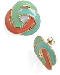 ModCloth Love Me Love Me Knot Earrings - Lyst