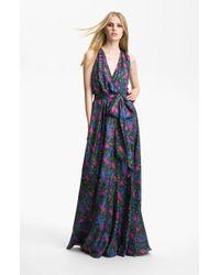 Rachel Zoe Julianna Print Silk Gown - Lyst