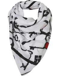 Topshop Keys Scarf By Beta - Lyst