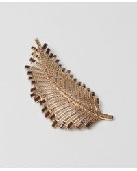 Brooks Brothers Large Leaf Brooch - Lyst