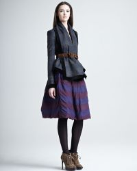 Burberry Prorsum - Striped Double-layer Skirt - Lyst
