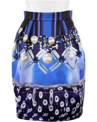 Mary Katrantzou Mini Corollaskirt in Silk with Allover Digital Print - Lyst
