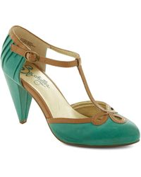 ModCloth All Dressed Up Heel in Matte Jade - Lyst