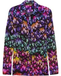 Aminaka Wilmont Printed Silk Crepe De Chine Shirt - Lyst