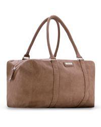 Mango - Contrast Handle Shopper Bag - Lyst