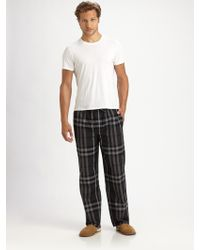 Burberry | Checkprint Pajama Pants | Lyst