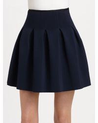 T By Alexander Wang Pleated Neoprene Skirt - Lyst