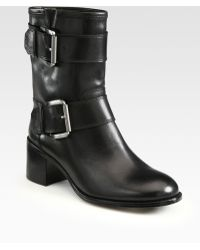 Boutique 9 Leather Buckle Ankle Boots - Lyst