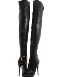 Burberry Ankle Chain Leather Boots - Lyst