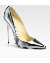 Jimmy Choo Anouk Metallic Leather Pumps - Lyst
