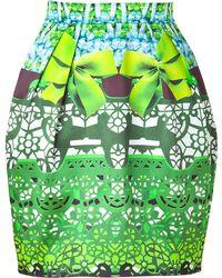 Mary Katrantzou Jade and Sky Printed Silk Tulip Skirt - Lyst